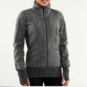 Lululemon Run: Back On Track Plaid Jacket
